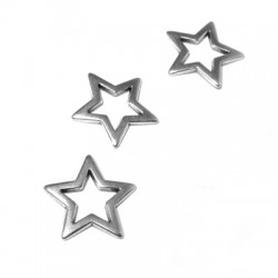Intercalaire Étoile en Métal/Zamac, 18x18mm