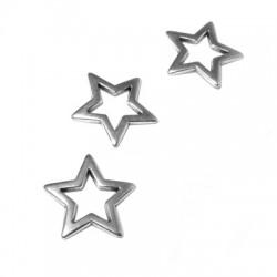 Μεταλλικό Ζάμακ Χυτό Μοτίφ Αστέρι για Μακραμέ 18mm