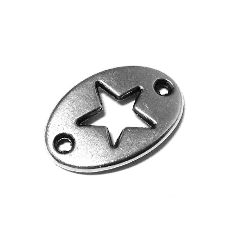 Zamak Connector Star Oval 20x13mm