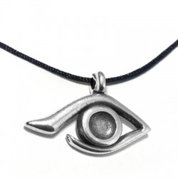 Zamak Charm Evil's Eye 19x29mm (Suitable also for Enameling)