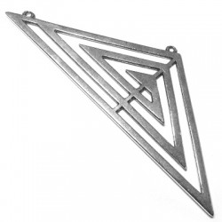 Intercalaire Triangulaire pour Collier en Métal/Zamac, 111x41mm