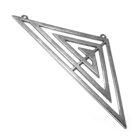 Zamak Pendant Necklace Triangle 111x41mm