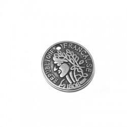 Zamak Charm Coin Francaise Republique 15mm