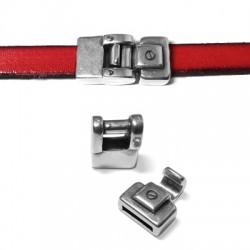 Fermoir Crochet en Métal/Zamac, 28x14mm (Ø 10.5x2mm)