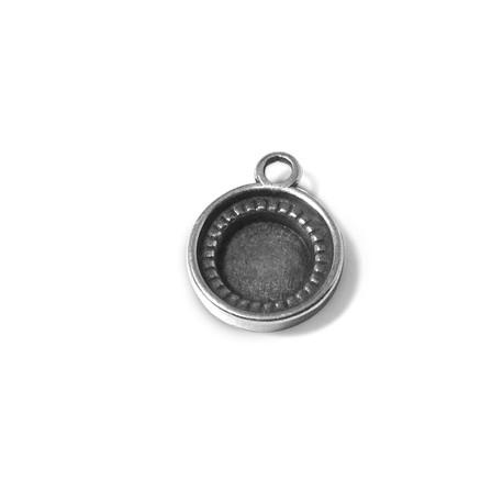 Μεταλλικό Ζάμακ Χυτό Μοτίφ Βάση Κύκλος 11mm (Εσωτερικό 10mm)