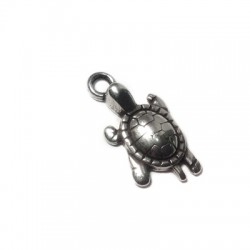 Zamak Charm Turtle 12x18mm