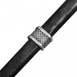 Zamak Slider Tube for Regaliz Leather 11x14mm (Ø 10x7mm)