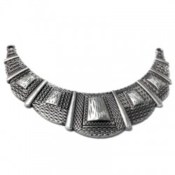 Zamak Connector Collar Necklace 110x30mm