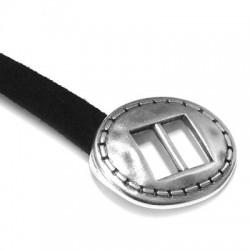 Fermoir Ovale une pièce en Métal/Zamac, 24x30mm (Ø 10.2x3mm)