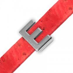 Μεταλλικό Ζάμακ Χυτό Περαστό Γράμμα 'E' 15mm (Ø10.5x2.4mm)