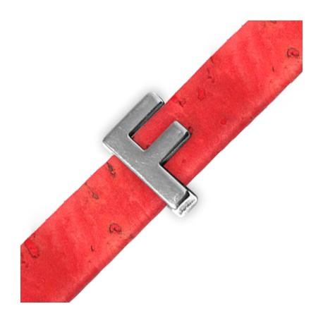 Zamak Slider Letter 'F' 15mm (Ø 10.5x2.4mm)
