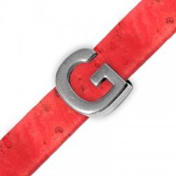 Μεταλλικό Ζάμακ Χυτό Περαστό Γράμμα 'G' 15mm (Ø10.5x2.4mm)