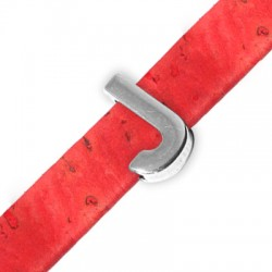 Μεταλλικό Ζάμακ Χυτό Περαστό Γράμμα 'J' 15mm (Ø10.5x2.4mm)