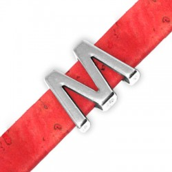 Μεταλλικό Ζάμακ Χυτό Περαστό Γράμμα 'M/W' 15mm (Ø10.5x2.4mm)