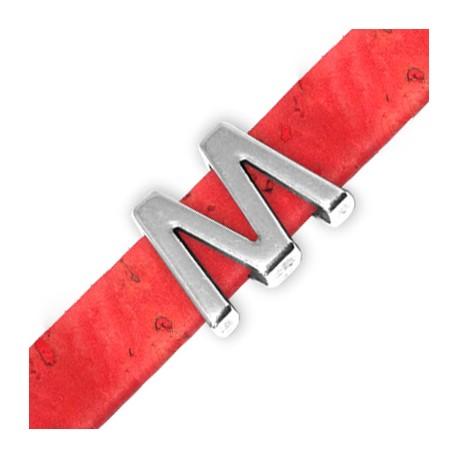 Zamak Slider Letter 'M/W' 15mm (Ø 10.5x2.4mm)