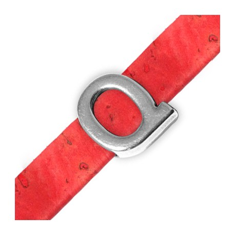 Zamak Slider Letter 'Q' 15mm (Ø 10.5x2.4mm)