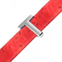 Μεταλλικό Ζάμακ Χυτό Περαστό Γράμμα 'T' 15mm (Ø10.5x2.4mm)