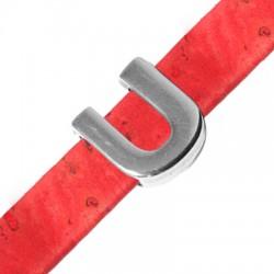 Μεταλλικό Ζάμακ Χυτό Περαστό Γράμμα 'U' 15mm (Ø10.5x2.4mm)