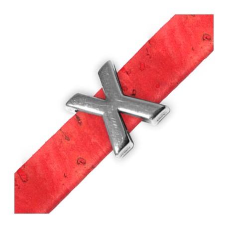 Zamak Slider Letter 'X' 15mm (Ø 10.5x2.4mm)
