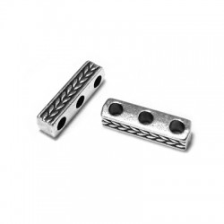 Zamak Spacer Triple 15x4mm (Ø 2.3mm)