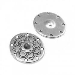 Zamak Charm Round 1.4mm (Setting 8 holes 18mm)