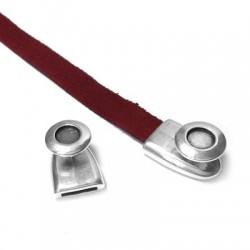 Μεταλλικό Ζάμακ Κούμπωμα& Υποδοχή SS34 21x15mm (Ø10.2x2.1mm)