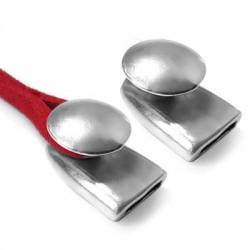 Fermoir en métal/zamac une pièce, 21x15mm  (Ø 10.2x2.1mm)