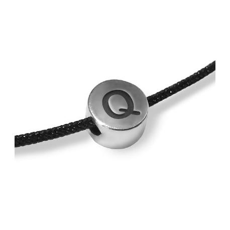 """Distanziatore in Zama Rotondo con Lettera """"Q"""" 7x4.4mm (Ø 2mm)"""