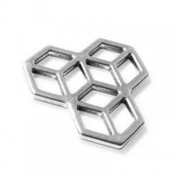 Μεταλλικό Ζάμακ Χυτό Στοιχείο Γεωμετρικό 3 Κύβοι 30/2.2mm