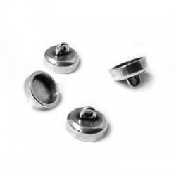 Fermoir Aimanté en Métal/Zamac, 9x6,4mm (Ø 1,6mm)