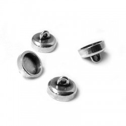 Zamak Magnetic Clasp with Loops 9x6.4mm
