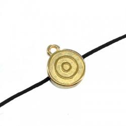 Charm in Zama Rotondo con Spirale 12mm