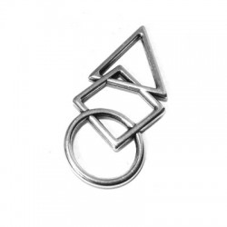 Zamak Pendant Geometrical Designs 21x47mm