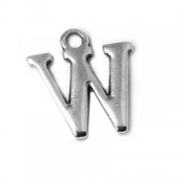 """Μεταλλικό Ζάμακ Χυτό Γράμμα Κρεμαστό """"W"""" 12mm"""