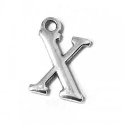 Zamak Charm Letter X 12mm