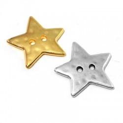 Μεταλλικό Ζάμακ Χυτό Στοιχείο Αστέρι Κουμπί 22mm (Ø1.8mm)