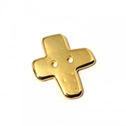 Croix bouton en Métal/Zamak, 20x22mm (Ø 1,8mm)