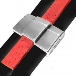ZamakMagnetic Clasp for Double Layer Flat Leather 22x33mm (Ø 30.2x2.4mm)