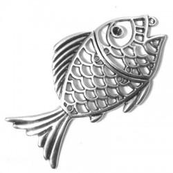 Μετ. Ζάμακ Χυτό Μοτίφ Ψάρι με Υποδοχή για Στρας PP32 82x42mm