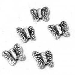 Passant Papillon en Métal/Zamak, 10x9mm (Ø 1,4mm)