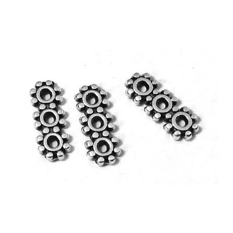 Separatore in Zama 4x10mm con 3 Fori (Ø 1mm)