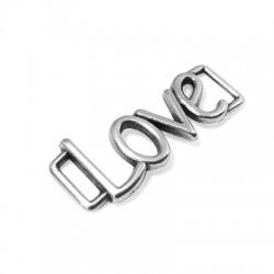 """Μεταλλικό Ζάμακ Χυτό Στοιχείο """"LOVE"""" 28x11mm (Ø5.5x1.8mm)"""