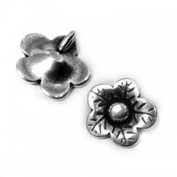 Breloque Fleur en Métal/Zamak 12mm (Ø 1,7mm)