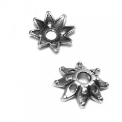 Zamak Bead Cap Flower 9x2.6mm (Ø 2mm)