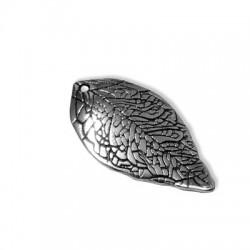 Zamak Charm Leaf 14x25mm