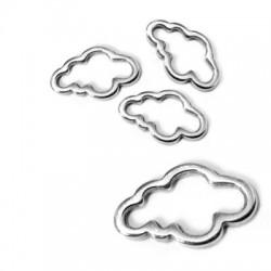 Μεταλλικό Ζάμακ Χυτό Στοιχείο Σύννεφο 15x9mm
