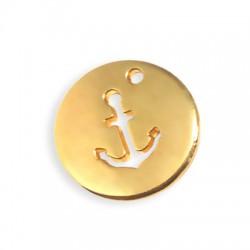 Médaille avec Ancre en Métal/Zamak 22x2,2mm/2mm