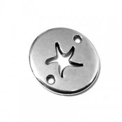 Intercalaire Rond avec Étoile de Mer en Métal/Zamak 20mm (Ø 2mm)
