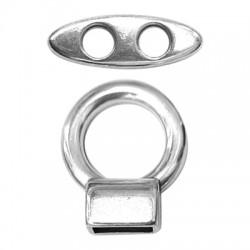 Ζάμακ Χυτό Κούμπωμα Σετ Στρογγυλό 20mm (Ø10x5mm/9x26mm)