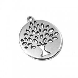 Μεταλλικό Ζάμακ Χυτό Μοτίφ Στρογγυλό Δέντρο της Ζωής 24mm
